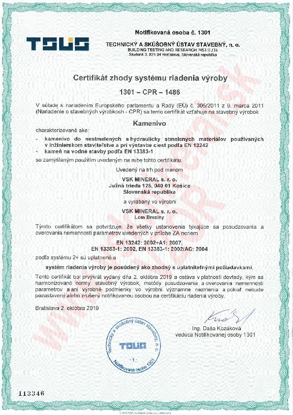 Certifikat Breziny 1